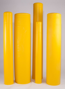 "Photo of Flat Top Bollard Cover 4.5"" square x 55"""