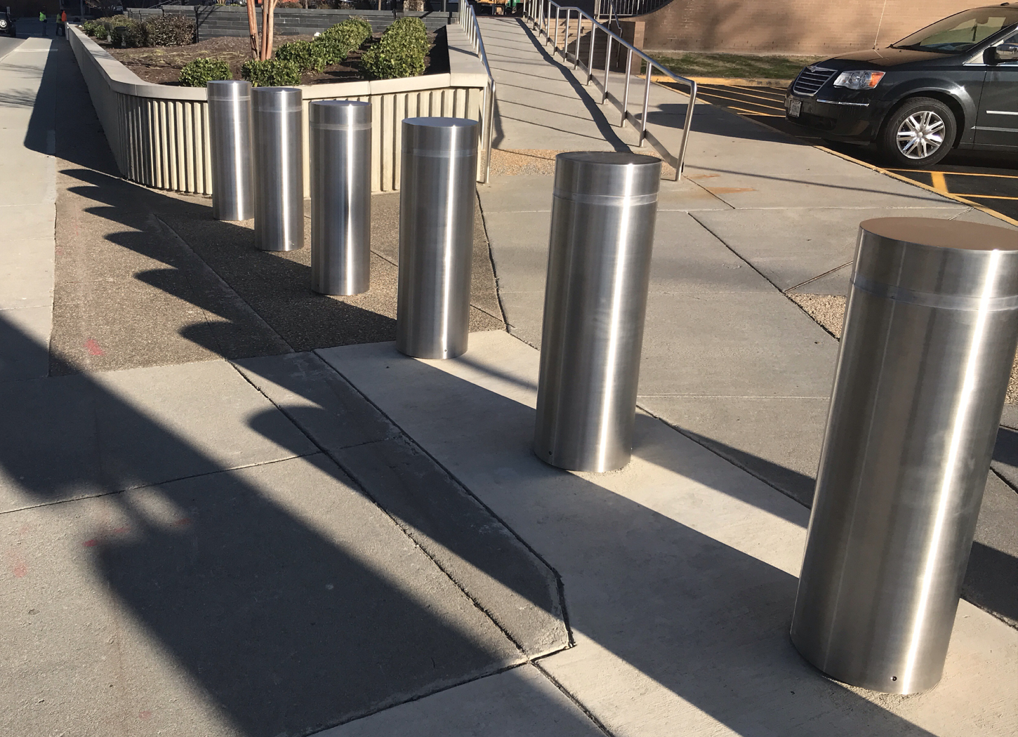Stainless Steel Bollard Covers on TrafficProtectors