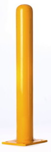 "6""x 42"" Powder-Coated Bolt-Down Bollard - Steel Bollards"