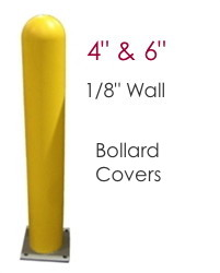 "Image of Bollard Covers -1/8"" wall - 4 & 6 inch diameter"