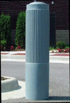 "Ribbed 10"" Bollard Cover - Parking Posts"