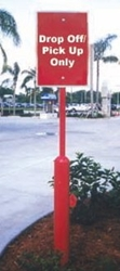Square Hollow Base Sign