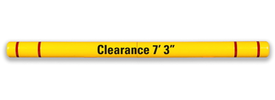 "Clearance Bar - 5"" x 80"" - Parking Lot Clearance Bars - TrafficProtectors.com"